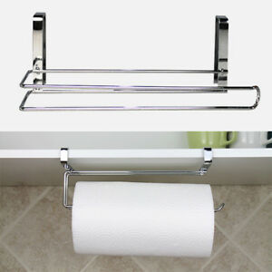 Details About Kitchen Paper Holder Hanger Tissue Roll Towel Rack Bathroom  Toilet Door Hook