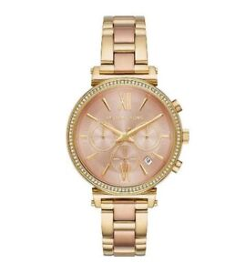 9f6cd0196ff3 Michael Kors Women s Sofie Crystal Dial Two Tone Gold Watch 39mm ...