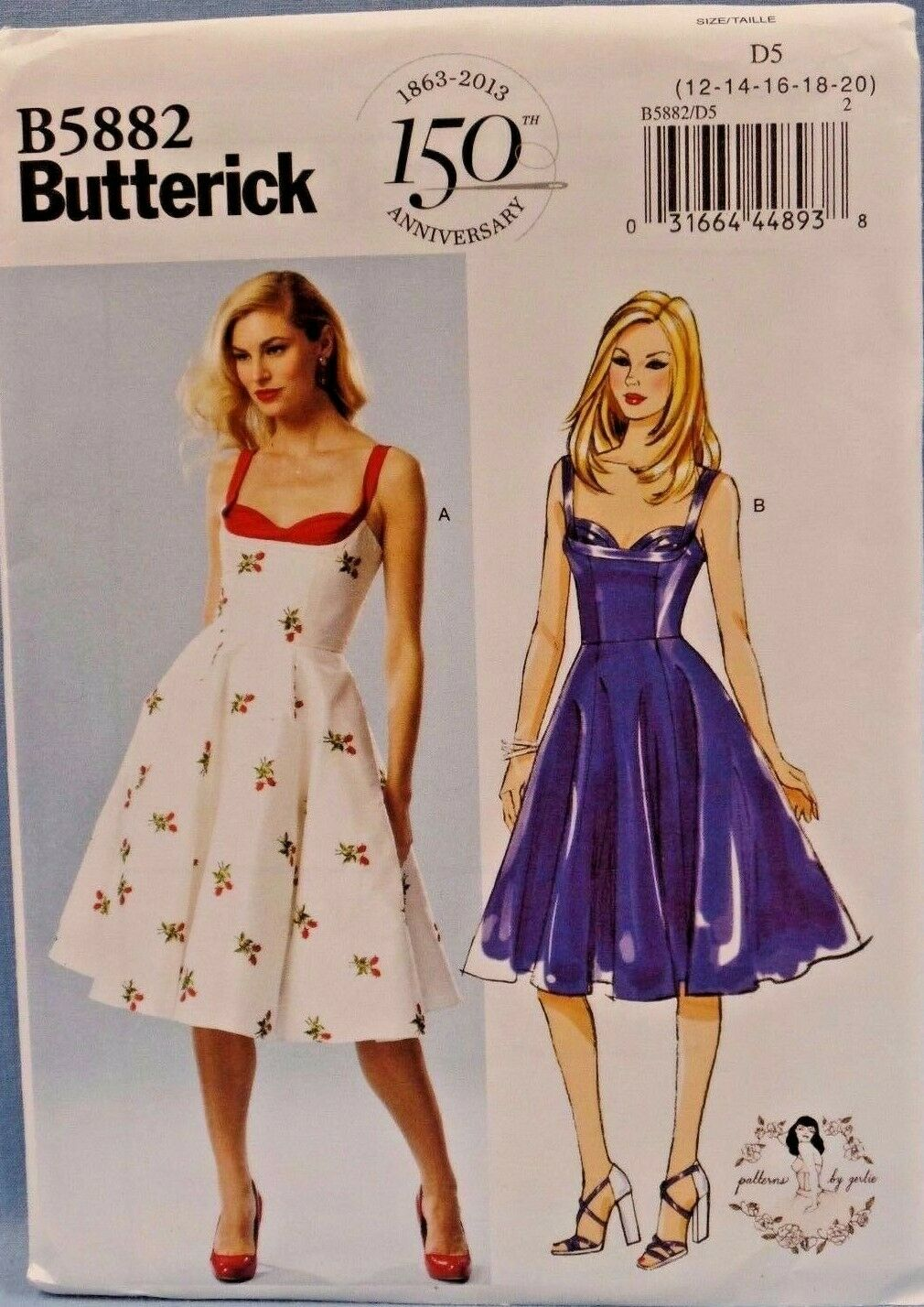 BUTTERICK PATTERNS B5882 Misses Dress Sewing Templates Size D5