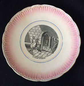 Plate-Talking-Badonviller-Jeanne-D-039-Arc-XIX-Th-in-prison-France