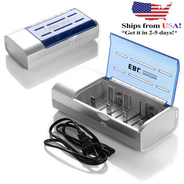 EBL LCD Charger For C D AA AAA 9V NiMH NiCD Rechargeable Battery /& Cell Phone