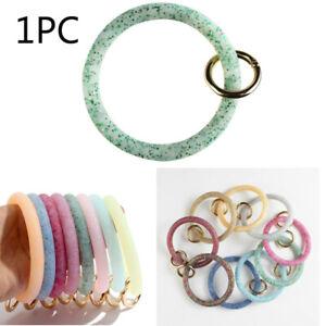 1PC-Silicone-Big-O-Wristlet-Keychain-Bracelet-Bangle-Keyring-Key-Chain-Holder