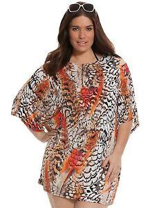 7305acfa15 Animal Print 14 16 1X Lane Bryant PRINTED COCOON Plus Size Swimsuit ...