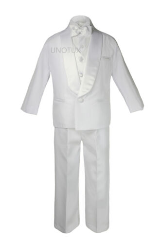 New Baby Toddler Boys Easter Christening Baptism Tuxedo Suits w// White Cross Hat