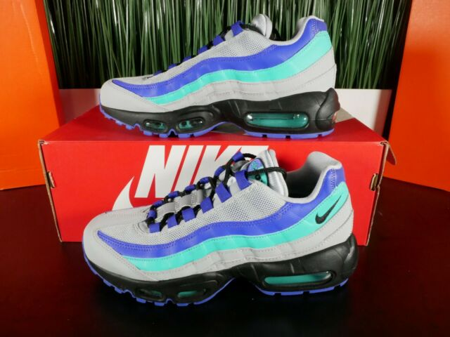 sports shoes 05e18 d9476 Nike Air Max 95 OG Wolf Grey Aqua Running Shoes AT2865-001 Womens Size 6-7.5