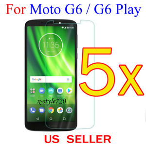 5x-Clear-LCD-Screen-Protector-Guard-Cover-Shield-For-Motorola-Moto-G6-G6-Play