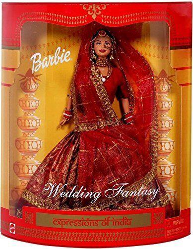 Expresiones de muñeca Barbie Indio Boda fantasía (Color y diseño pueden variar)