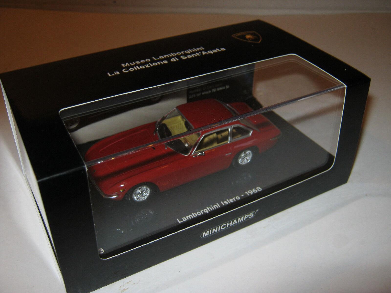 1 43 Lamborghini Islero 1968 rojo L.E. 1 of of of 2010 Minichamps 436103420 OVP New d728e3