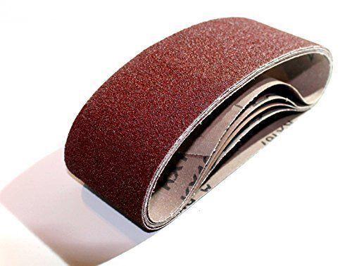10 Gewebe Schleifbänder 75 x 533 mm Korn 60 Schleifband Schleifpapier schleifen