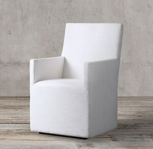 Details About Restoration Hardware Rh Modern Ellison High Back White Dining Chairs New