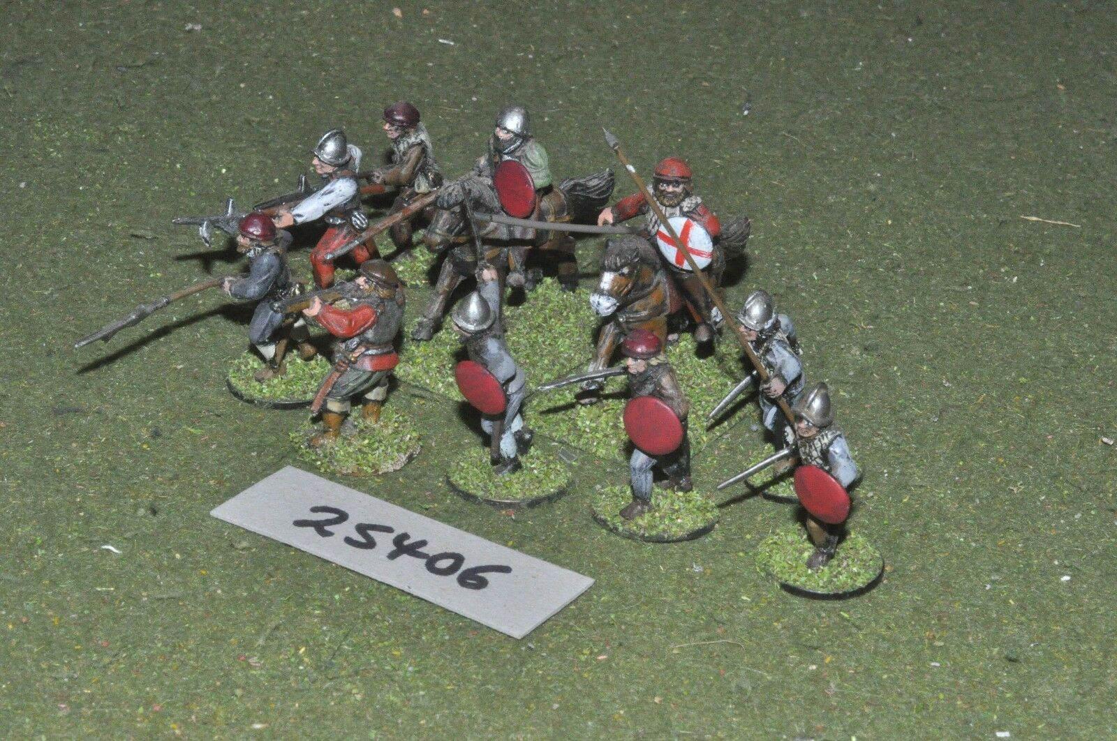 25mm renaissance   english - skirmish group 10 figures - inf (25406)