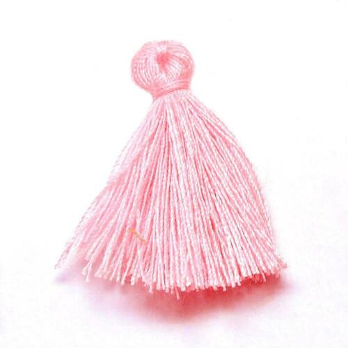 Cardmaking /& Crafts Y13305 Pack 10 x Pale Pink 3cm Cotton Tassels For Sewing