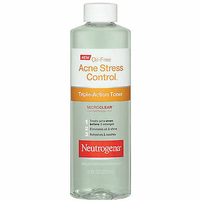Neutrogena Oil-Free Acne Stress Control Triple-Action Toner-8 oz (Pack Of 2)