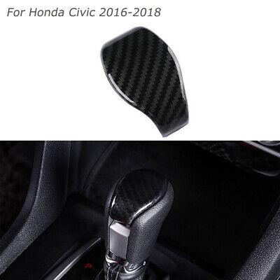 Carbon Fiber Inner Gear Lever Shift Knob Cover For Honda Civic 10th 2016-2018