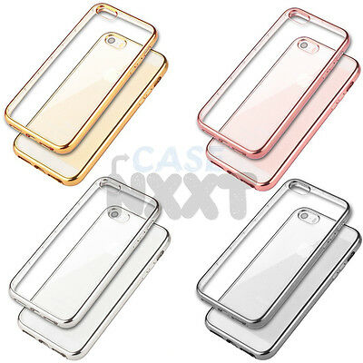 HANDY HÜLLE Chrom Cover Case Schutz Tasche Slim Silikon Metallic Etui Farbig