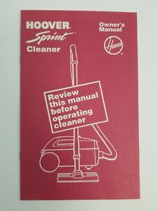 Hoover-Sprint-Cleaner-Owner-039-s-Manual-1989-Litho-USA-North-Canton-OHIO