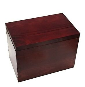 Image Is Loading Recipe Card Box New Wooden Cherry Stained Pine
