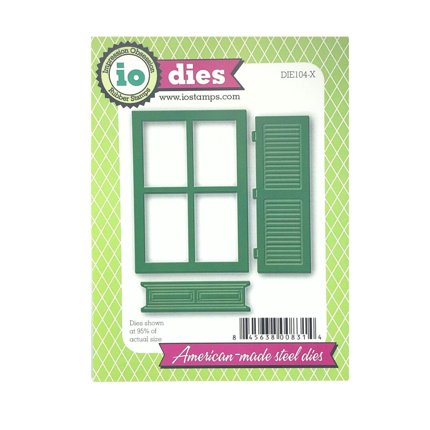 WINDOW DIE-Impression Obsession//IO Stamps DOOR DIE105-U -Steel//Wafer Dies