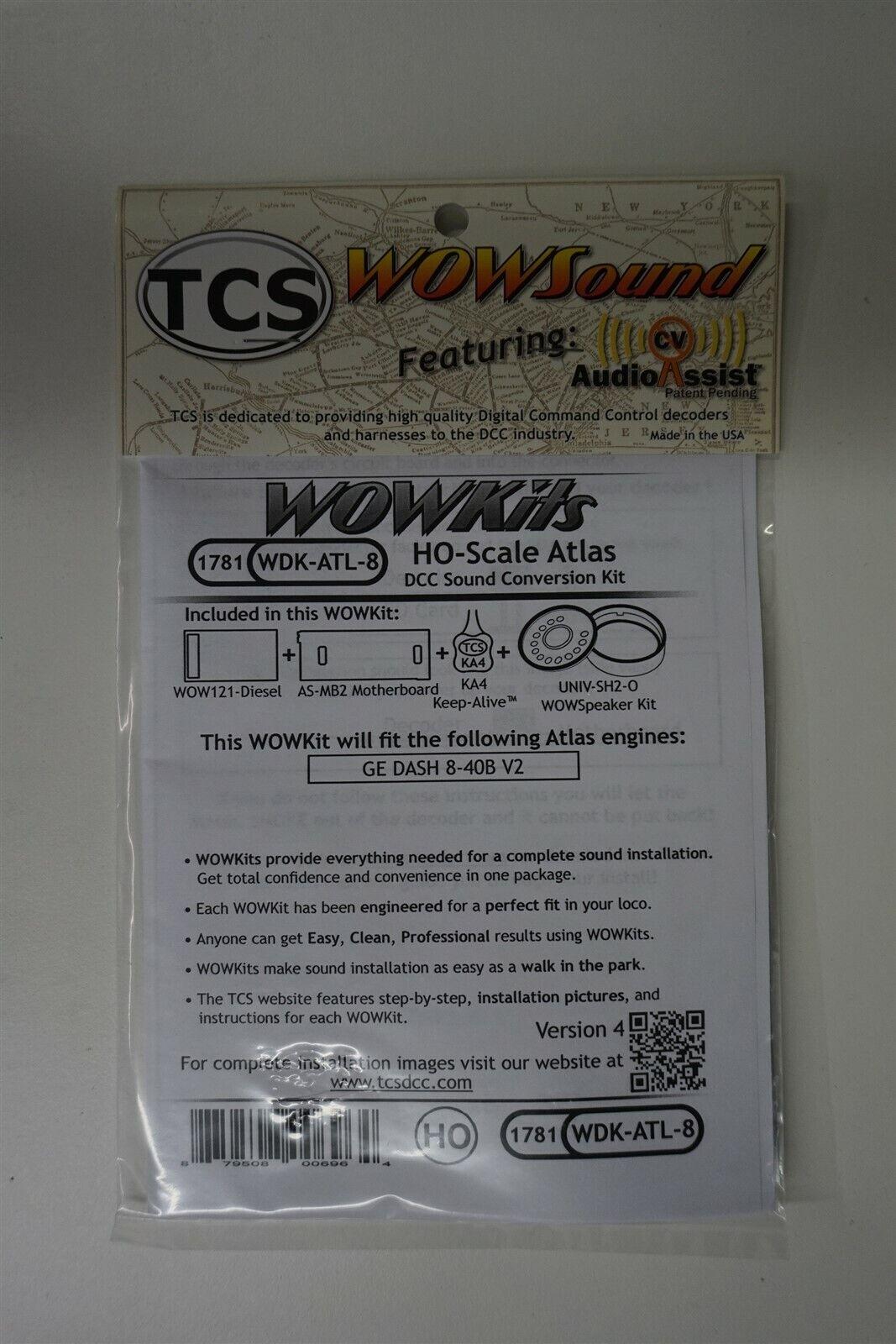 TCS {WOW WDKATL8} 1781 WOW DIESEL HO Scale ATLAS Version 4 nuovo YANKEEDABBLER