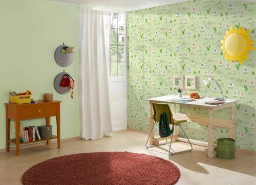 3,56£//1qm Kids Wallpaper Llama Cacti green colourful Boys /& Girls 36985-2