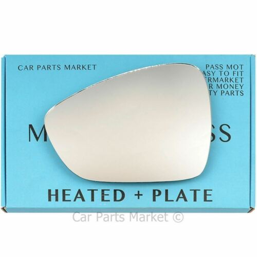 Left side heated plate wing mirror glass for Citroen C4 Picasso Grand 2013-On