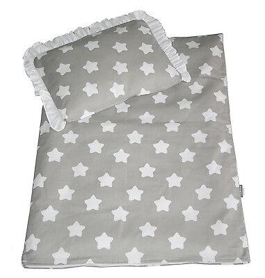 4 Tlg. Set Bezug Für Kinderwagen Garnitur Bettwäsche Decke+kissen+füllung *neu*