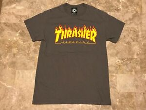 13bfaa3d Image is loading THRASHER-MAGAZINE-Authentic-Flame-Spell-Out-Skate-Graphic-