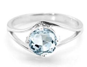 925-Sterling-Silver-Ring-Blue-Aquamarine-Round-Cut-Gemstone-Solitaire-Size-4-11