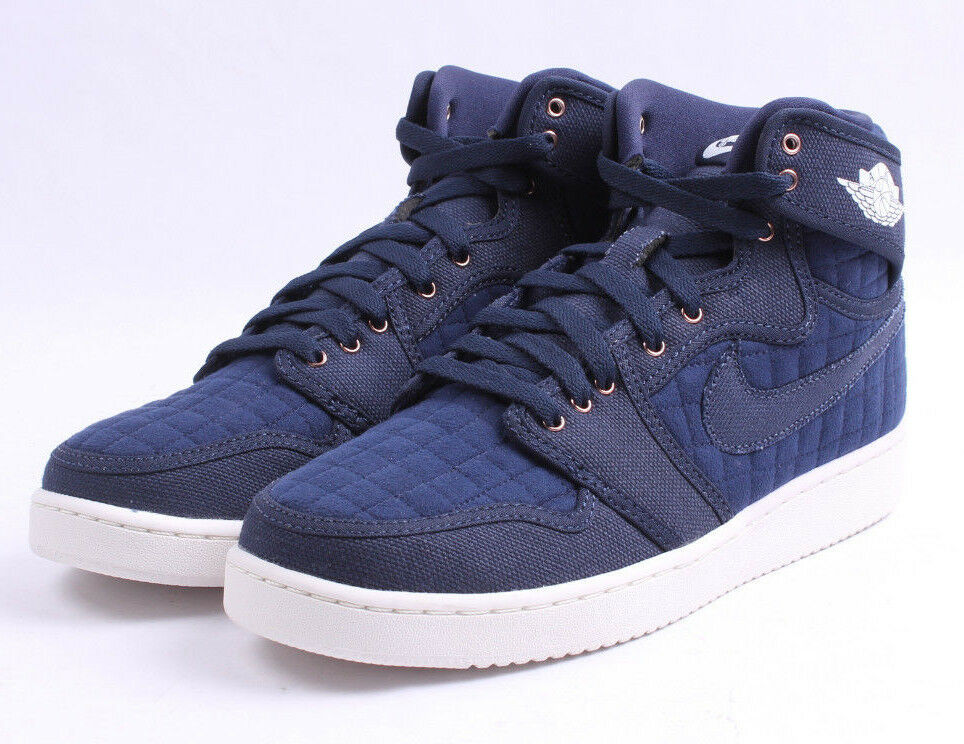 Air Jordan AJ1 KO High OG  638471 403 Navy Quilted hommes SZ 7.5 - 11