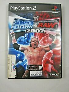 WWE-SmackDown-vs-Raw-2007-Sony-PlayStation-2-2006-PS2-Complete-w-Manual
