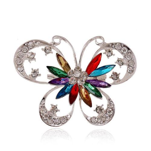 Butterfly exagération Broche Coloré Cristal Strass Insert Bijoux D