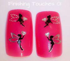 Nail Art Sticker- Black Fairy Decal #459 JH059 Transfer Shiny Rhinestone