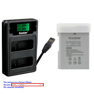 Kastar-Battery-LZD2-Charger-for-Nikon-EN-EL14A-MH-24-amp-Nikon-Df-DSLR-Camera