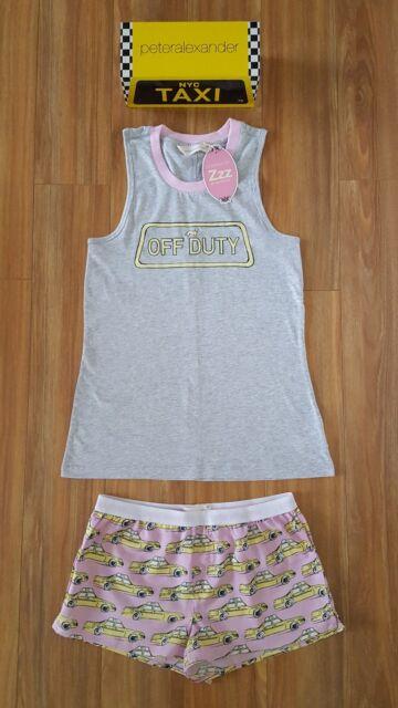 PETER ALEXANDER PJS Women Cool Cat Set Ladies Top /& Shorts PJ S//L//XL BNWT Kitty