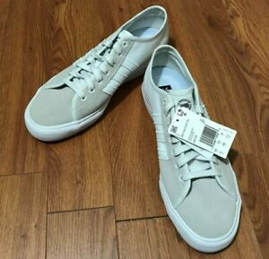 Mens Adidas Originals Matchcourt Canvas Sneakers New White Grey DB3139 no box