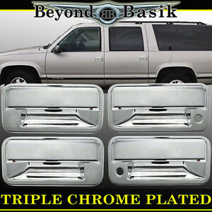 1995 1996 1997 1998 1999 Gmc Yukon Chevy Tahoe Chrome Door Handle Covers Overlay Ebay