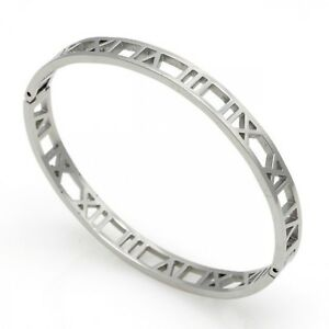 Hollow-Roman-Numeral-Bracelets-Bangles-Titanium-Steel-Bangle-Fine-Jewelry
