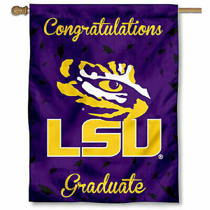 College Flags and Banners Co Louisiana State LSU Tigers Graduation Gift Banner Flag