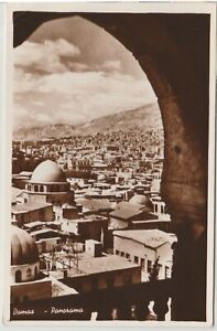 Syria-Damas-Damascus-Mosques-Vintage-Real-Photo-Postcard