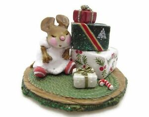 Wee Forest Folk WFF WAITING FOR CHRISTMAS Xmas Holiday M-316 AP Miniature Mouse