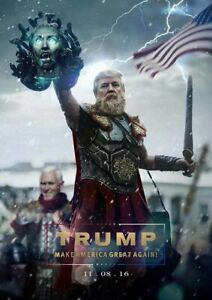 Pro-Trump-Pence-Anti-Hillary-Funny-Sticker-Medusa-Pro-USA-MAGA-NEW-SIZE-3X5-034