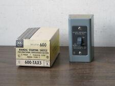Allen Bradley 600 Tax5 Manual Motor Starting Switch2 Polefractional Hpnos