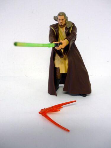 Details about  /STAR WARS QUI-GON JINN Saga Action Figure Jedi Master COMPLETE 2002
