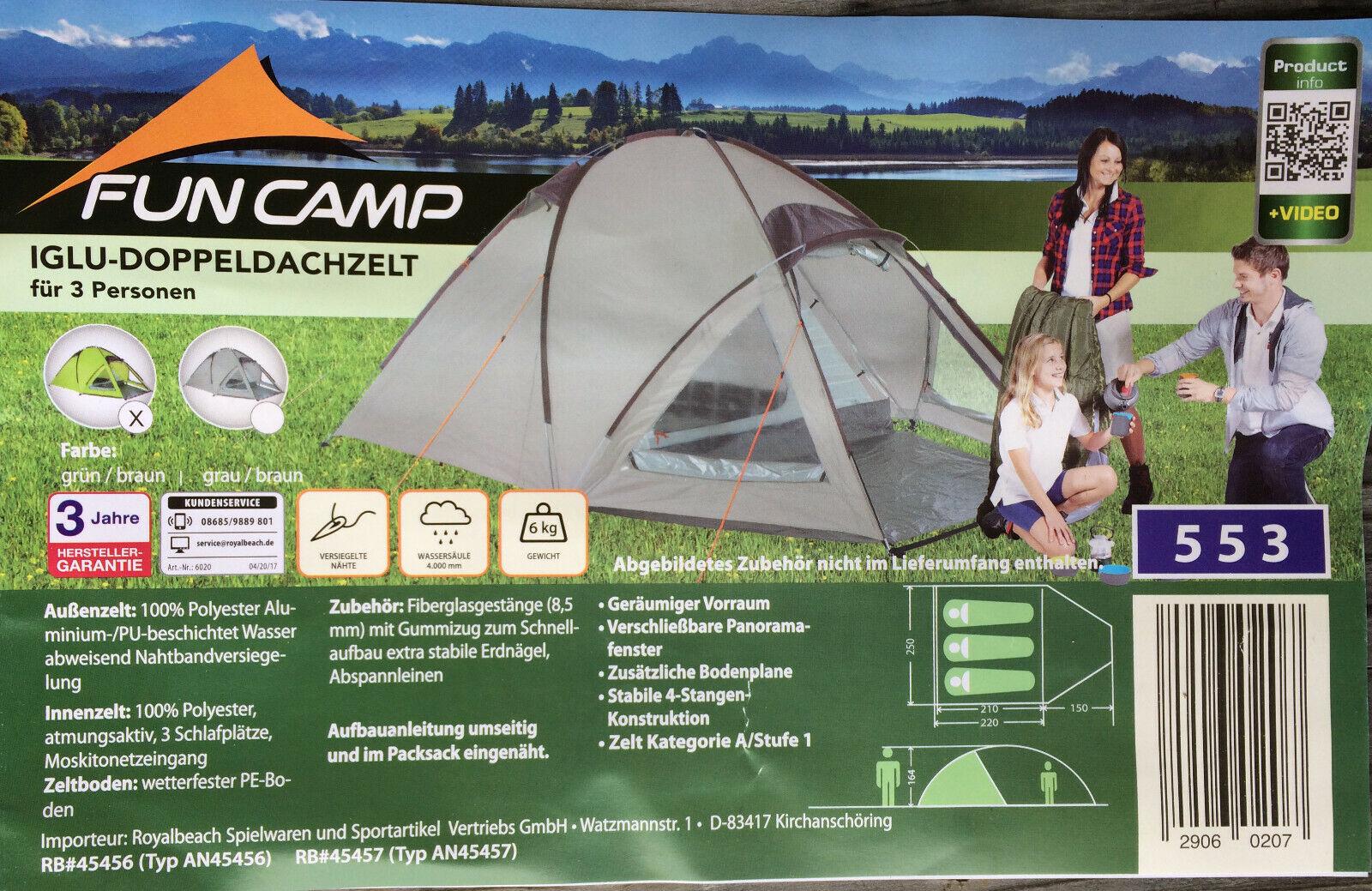 3 Personen Iglu-Doppeldach,  testbar bei Camping-Stadler am Waginger-See