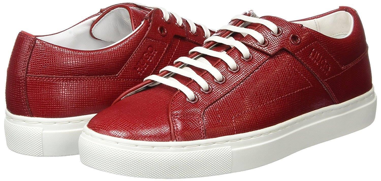 Hugo Boss  Corynna-VS  damen rot leather trainers Größe 5UK (38EU)