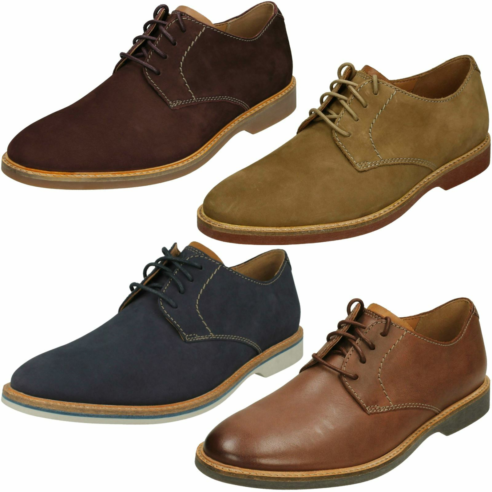 Mens Clarks Casual Lace Up schuhe - Atticus Lace