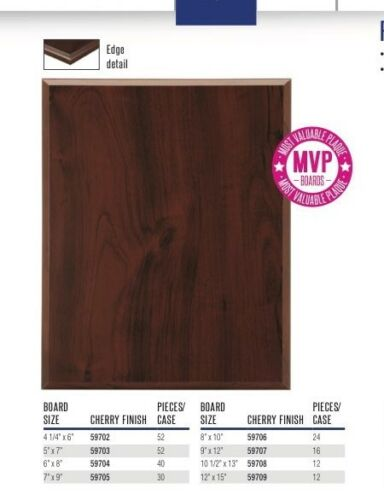 Trophy Lot of 52 Blank Award Plaque Boards 5 x 7 Cherry Finish