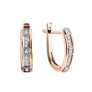 Ohrhaenger-mi-Brillanten-Russische-Rosegold-585-14-Karat-Diamanten-Ohrringe
