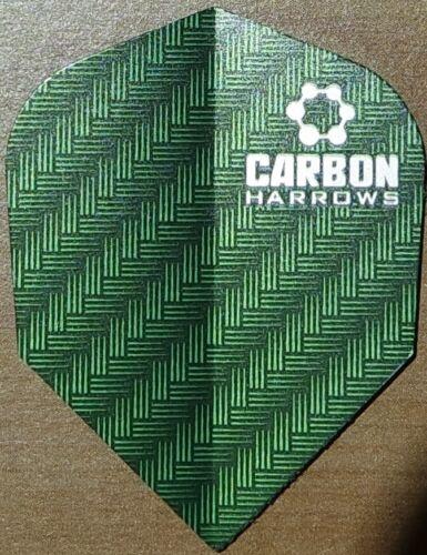 Harrows Kohlenstoff Dart Flights 6 Farben Choices-1//3//5//10 Sets