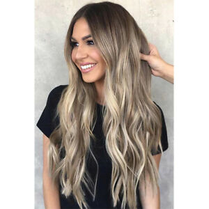 100 Real Human Hair Wig 9a Brazilian Ombre Balayage Blonde Full